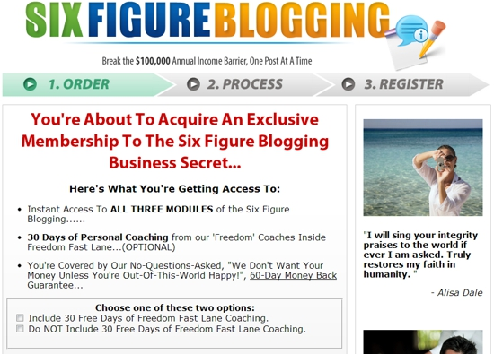 Six Figure Blogging Class